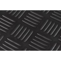 Traanplaatloper zwart rol 3 mm